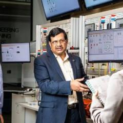 Professor Tapan Saha in the UQ TestLab